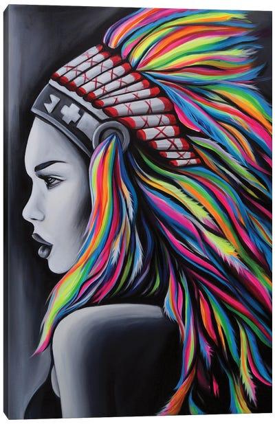 Ms. Geronimo Canvas Art Print