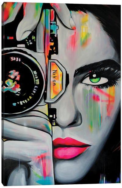 Nikon Girl Canvas Art Print