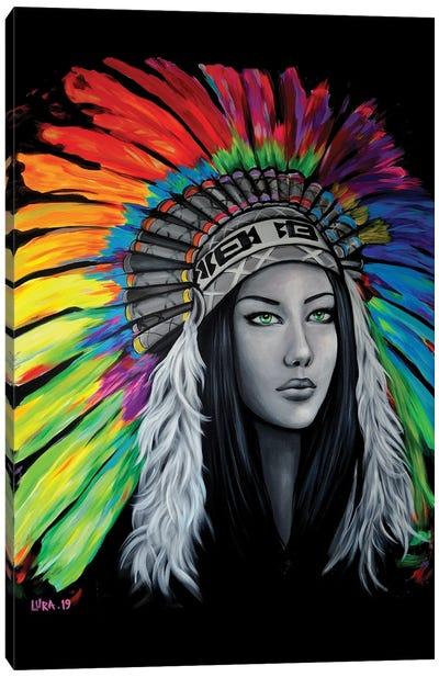 Tribal femme Canvas Art Print