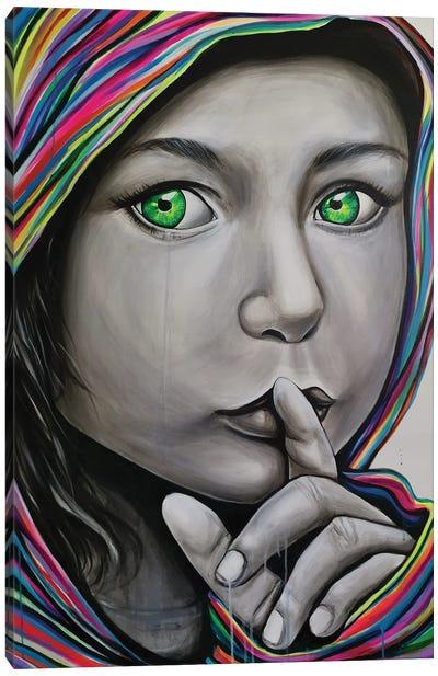 Shhhh Canvas Art Print