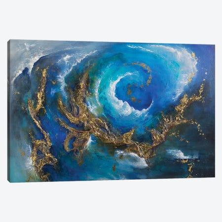 Gold Nebula Canvas Print #NTS19} by Nastasiart Canvas Artwork