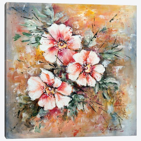Wild Roses Canvas Print #NTS22} by Nastasiart Canvas Print