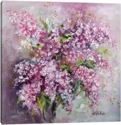 Lilac Time Canvas Art Print