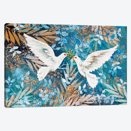 Doves In Love Canvas Print #NTS25} by Nastasiart Canvas Artwork