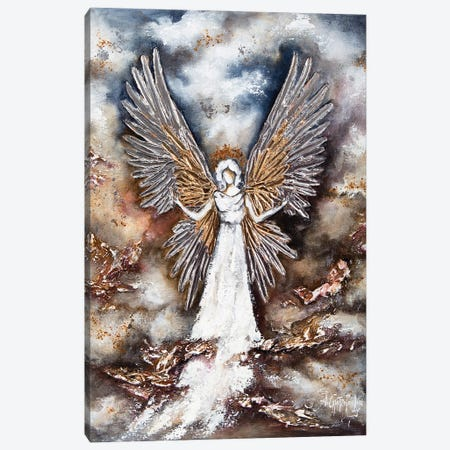 White Guardian Angel Canvas Print #NTS28} by Nastasiart Art Print