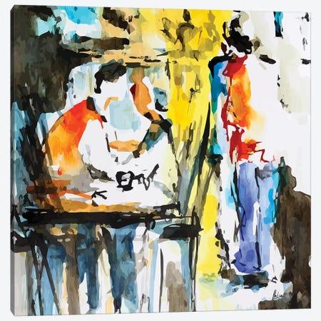 Coffee House Canvas Print #NTX14} by Natxa Canvas Wall Art