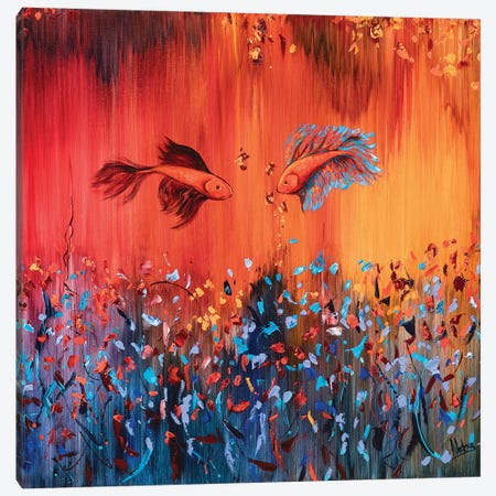 Deep Water Canvas Print #NTX16} by Natxa Canvas Art