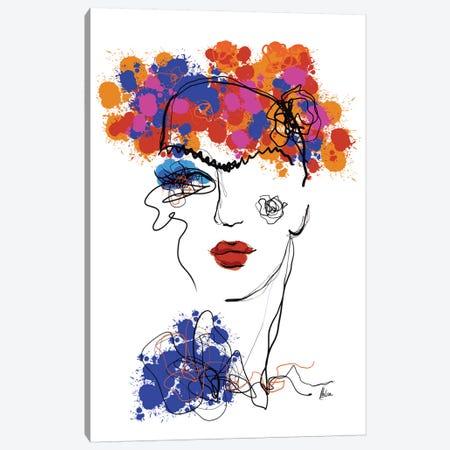 Frida Canvas Print #NTX21} by Natxa Canvas Art