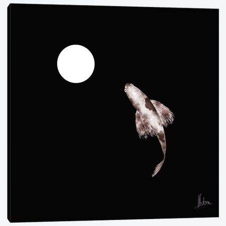 Goldfish White Canvas Print #NTX24} by Natxa Canvas Art Print
