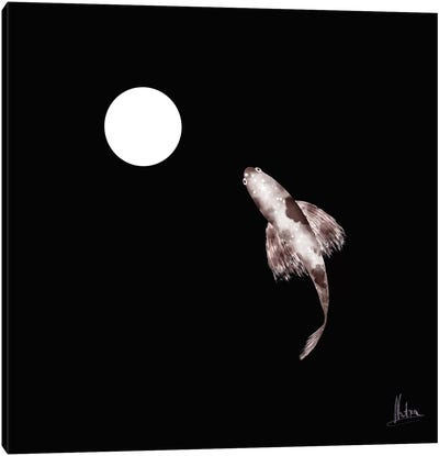 Goldfish White Canvas Art Print