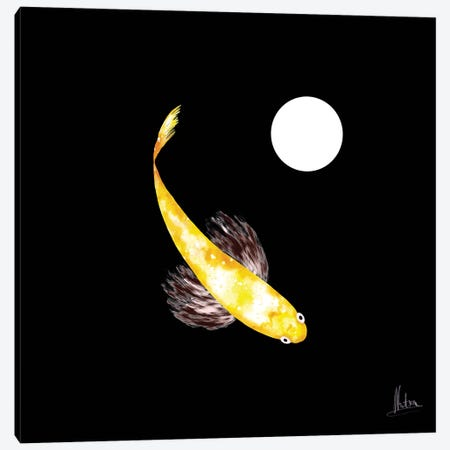 Goldfish Yellow Canvas Print #NTX25} by Natxa Art Print