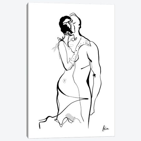Kiss Canvas Print #NTX27} by Natxa Canvas Print
