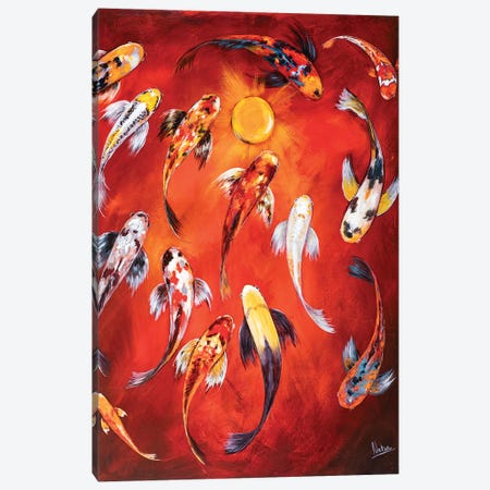 Koi I Canvas Print #NTX28} by Natxa Canvas Wall Art