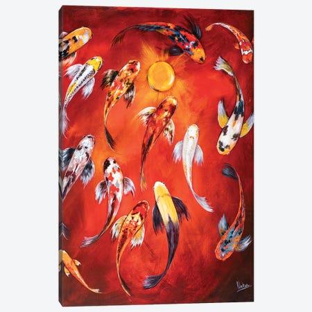 Koi I Canvas Print #NTX28} by Natxa Canvas Wall Art