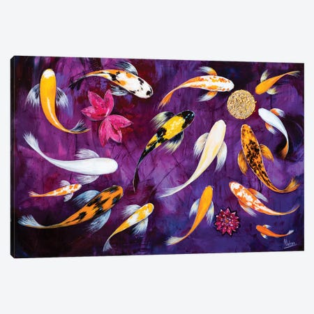 Koi II Canvas Print #NTX29} by Natxa Canvas Artwork