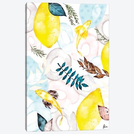 Lemons I Canvas Print #NTX37} by Natxa Canvas Art