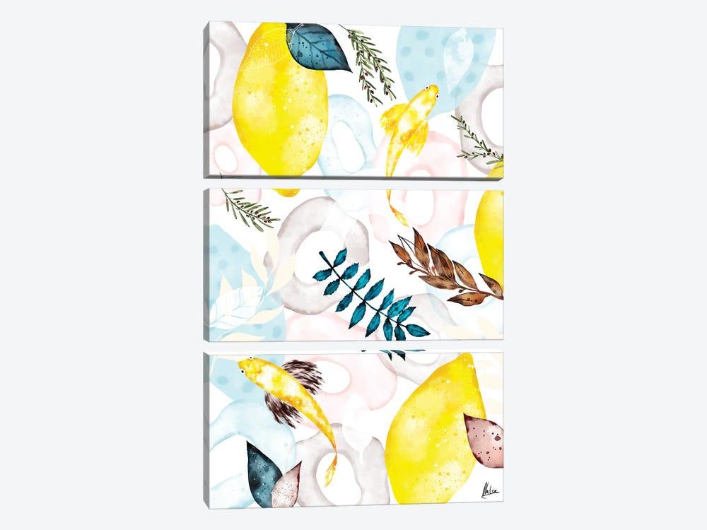 Lemons I by Natxa 3-piece Art Print