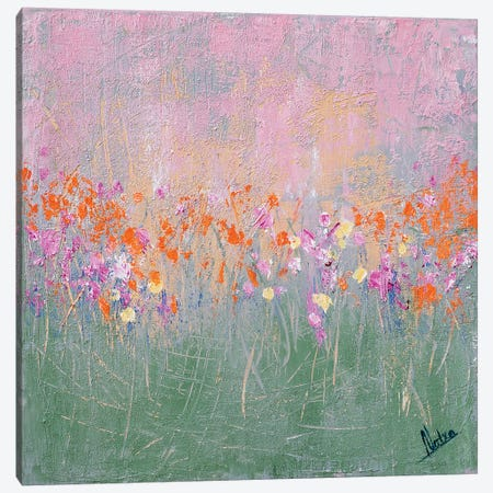 Mint Garden 3-Piece Canvas #NTX47} by Natxa Art Print