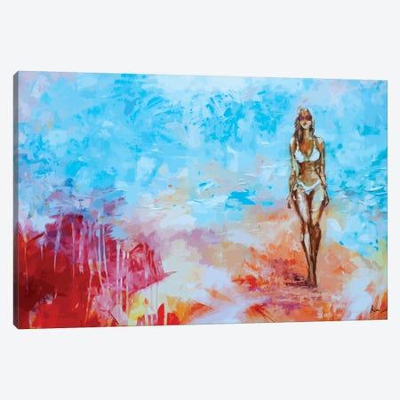 On The Beach Canvas Print #NTX51} by Natxa Canvas Print