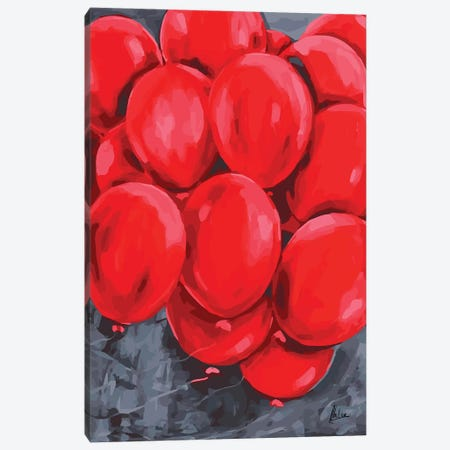 Red Balloons Canvas Print #NTX56} by Natxa Canvas Art