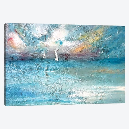 Seaside Canvas Print #NTX66} by Natxa Art Print