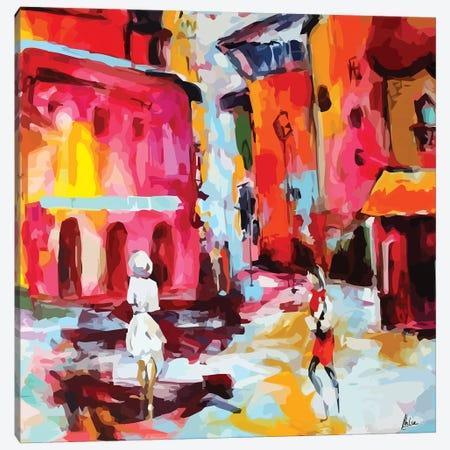 City Life I 3-Piece Canvas #NTX8} by Natxa Canvas Art Print