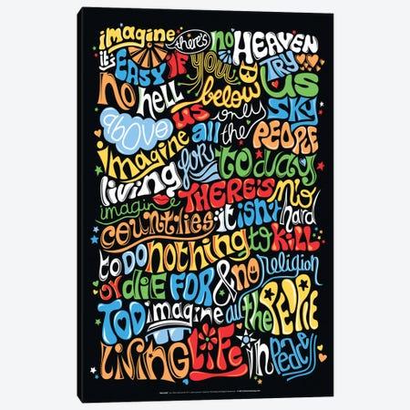 Imagine Canvas Print #NUR10} by Nour Tohmé Canvas Wall Art