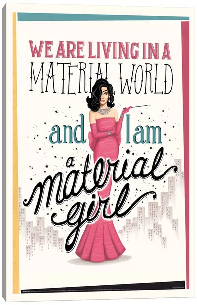 Material Girl Canvas Art Print