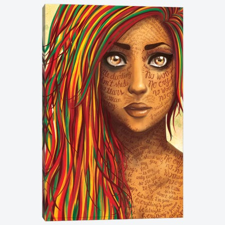 No Woman Canvas Print #NUR14} by Nour Tohmé Art Print