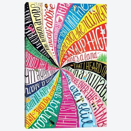 Over The Rainbow Canvas Print #NUR16} by Nour Tohmé Canvas Art Print