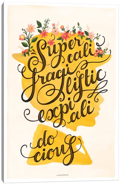 Supercali Canvas Art Print