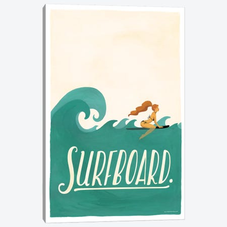 Surfboard Canvas Print #NUR20} by Nour Tohmé Art Print