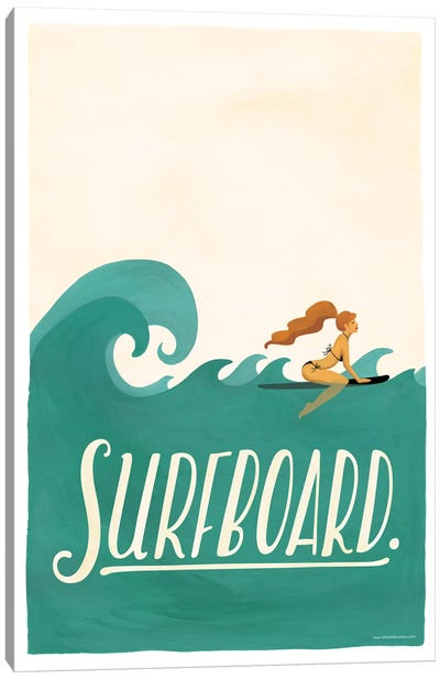 Surfboard Canvas Art Print