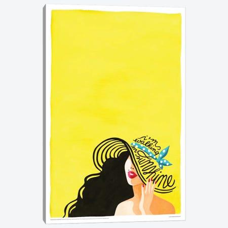 Walking On Sunshine Canvas Print #NUR21} by Nour Tohmé Canvas Art Print