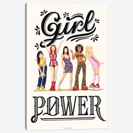 Girl Power Canvas Print #NUR29} by Nour Tohmé Canvas Art Print