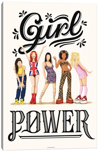 Girl Power Canvas Art Print