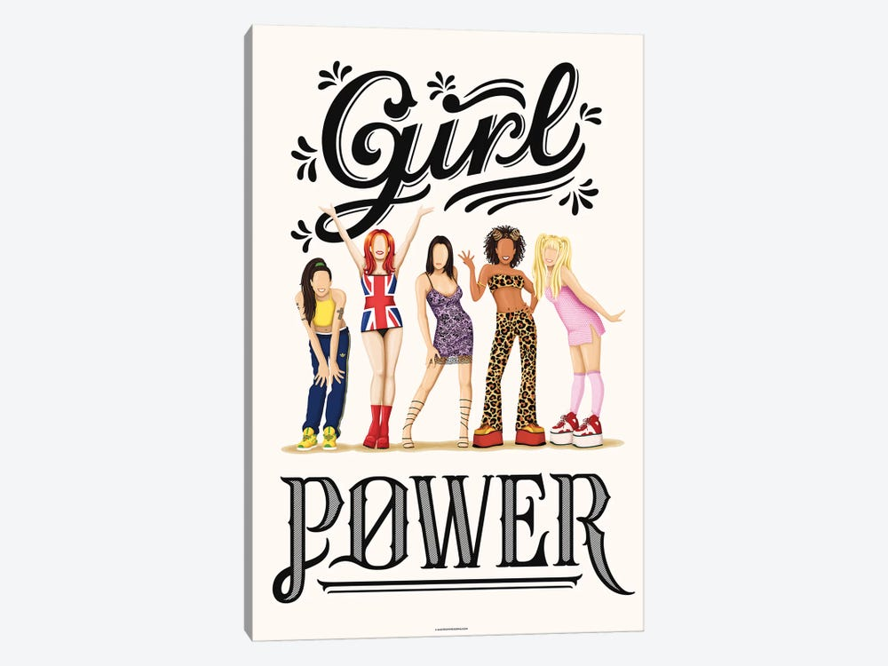 Girl Power by Nour Tohmé 1-piece Canvas Artwork