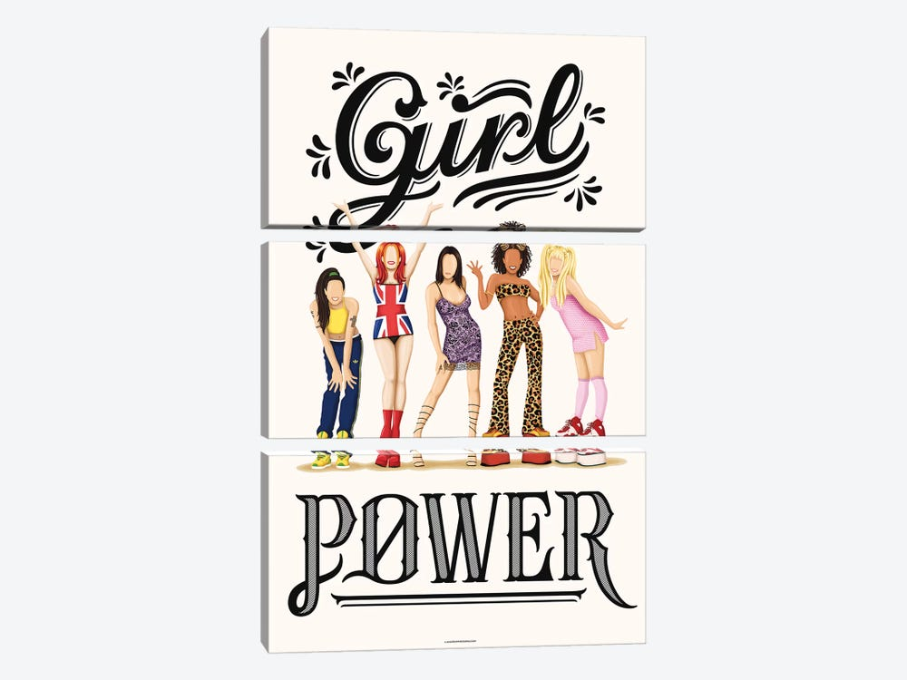 Girl Power by Nour Tohmé 3-piece Canvas Artwork