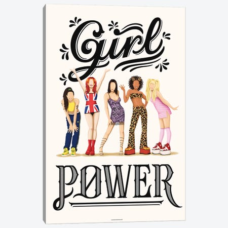 Girl Power 3-Piece Canvas #NUR29} by Nour Tohmé Canvas Art Print