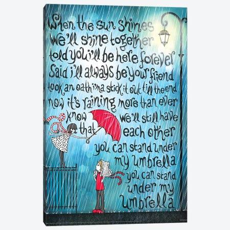 Umbrella Canvas Print #NUR34} by Nour Tohmé Art Print