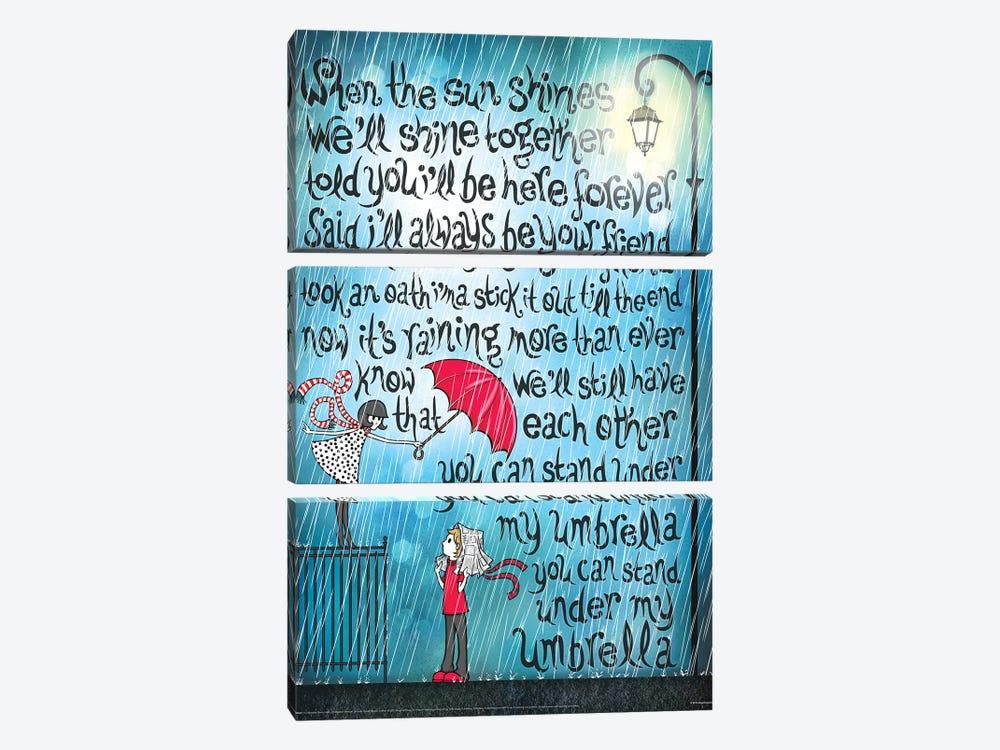 Umbrella by Nour Tohmé 3-piece Canvas Art