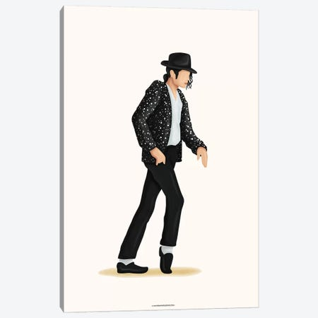 Moonwalk Canvas Print #NUR39} by Nour Tohmé Canvas Wall Art