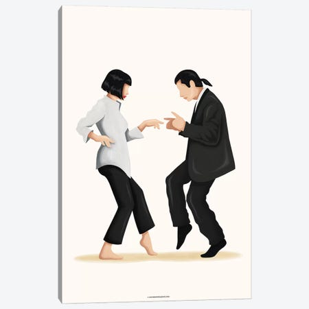 Pulp Fiction Canvas Print #NUR40} by Nour Tohmé Canvas Print