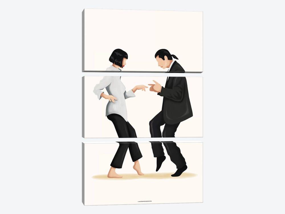 Pulp Fiction by Nour Tohmé 3-piece Canvas Art Print