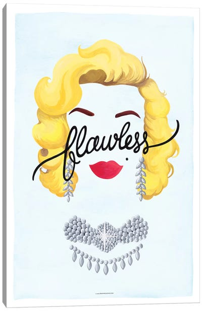 Flawless Series: Marilyn Canvas Art Print