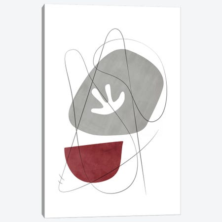 Abstract Composition With Lines IX Canvas Print #NUV108} by Nouveau Prints Canvas Print