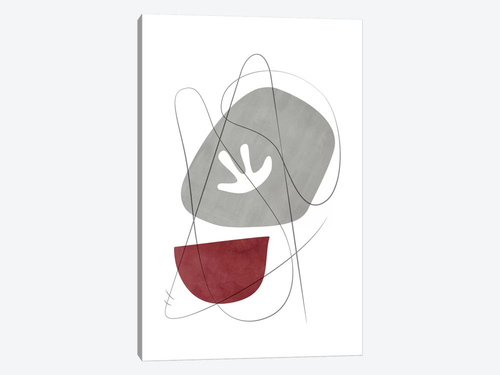Abstract Composition With Lines IX by Nouveau Prints 1-piece Art Print