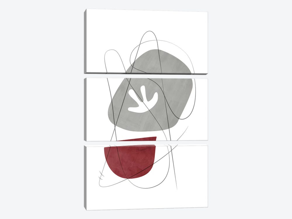 Abstract Composition With Lines IX by Nouveau Prints 3-piece Canvas Print