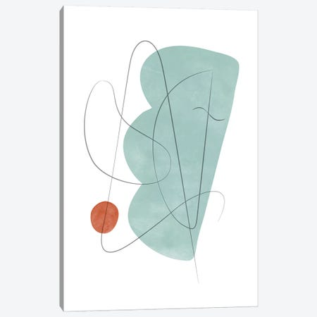 Abstract Composition With Lines X Canvas Print #NUV109} by Nouveau Prints Canvas Art Print