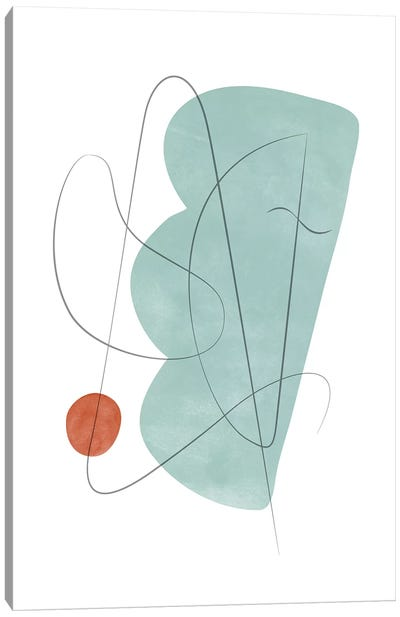 Abstract Composition With Lines X Canvas Art Print